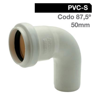 Codo PVC con goma 75x45º Goma