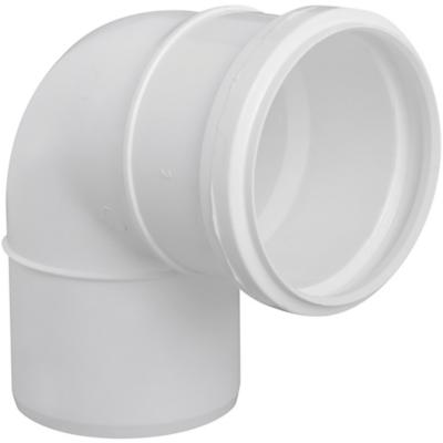 Codo 87,5o PVC-S Bco c/goma 75mm Blanco 1u