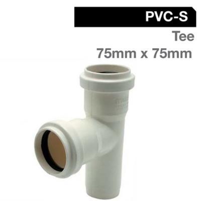 Tee PVC con goma 110x40 mm