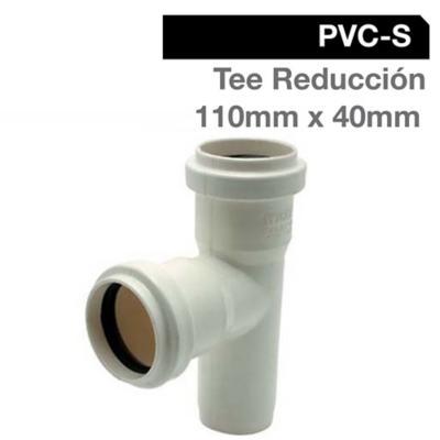 Tee Reducción PVC-S Bco c/goma 110mm x 40mm Blanco 1u