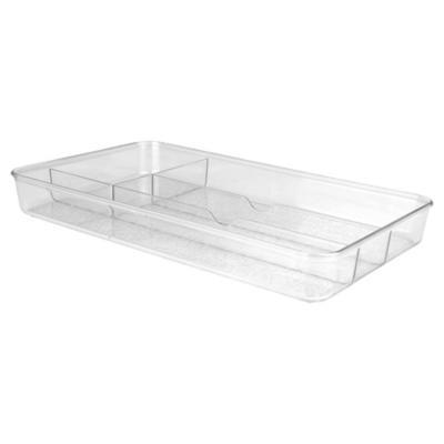 Porta servicios 34x19x4 cm acrílico transparente