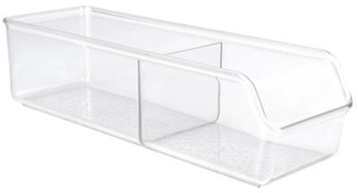 Organizador de cocina 27x9x7,5 cm 2 divisiones transparente