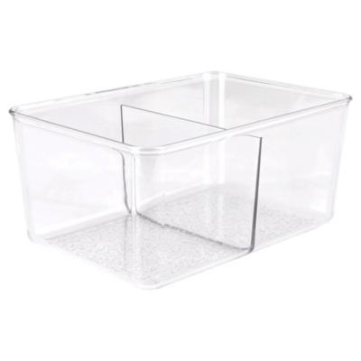 Organizador de cocina 22x10x15 cm 2 divisiones Transparente