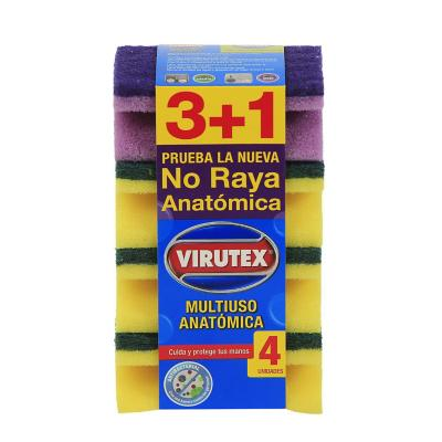 Set de esponjas anatómicas 4 unidades