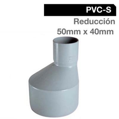 Reducción PVC-S Bco c/goma 50mm x 40mm Blanco 1u