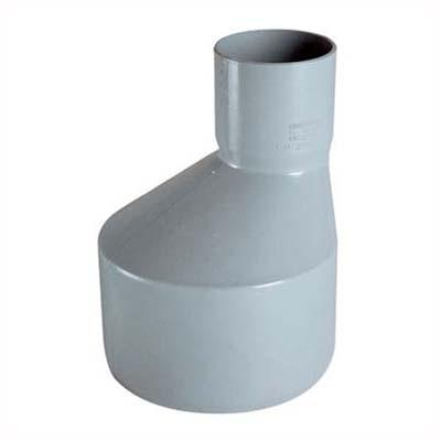 Reducción PVC-S Bco c/goma 75mm x 50mm Blanco 1u