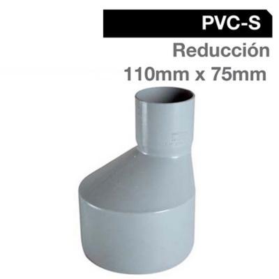 Reducción PVC-S Bco c/goma 110mm x 75mm Blanco 1u