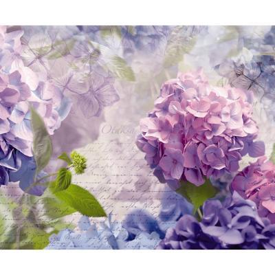 Papel fotomural Hortensia 254x368 cm 8 paneles