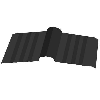 402 x 3000 mm Caballete recto Negro