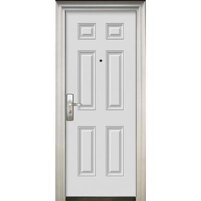 Puerta de seguridad Acero blanca 86x205cm