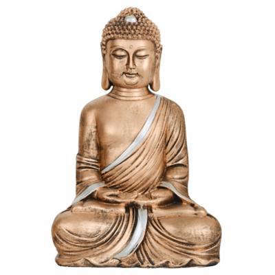 Buda decorativo 22x15x34 cm poliresina dorado