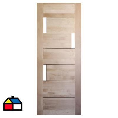 Puerta Lenga Mantova 3 vidrios 100x200 cm