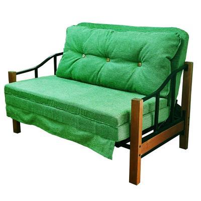 Futón 140x82x95 cm verde