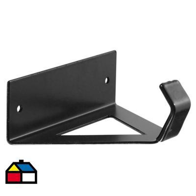 Gancho para bicicleta 18x5,5x16,5 cm acero Negro