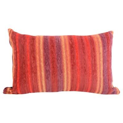 Cojín 50x33 cm Rayas rojos