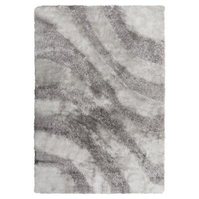 Alfombra shaggy ondas 120x170 cm gris