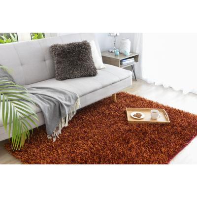 Alfombra shaggy mix 120x170 cm naranjo/rojo