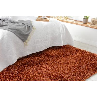 Alfombra shaggy mix 160x230 cm naranjo/rojo