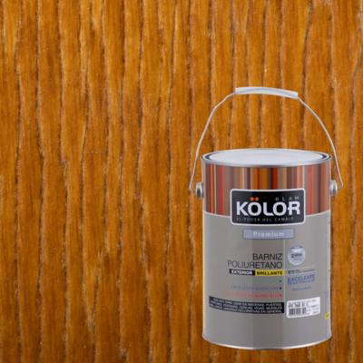 Barniz poliuretano brillante 1 gl roble