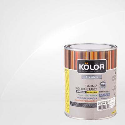 Barniz poliuretano brillante 1/4 gl Transparente