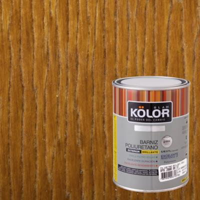 Barniz poliuretano brillante 1/4 gl roble