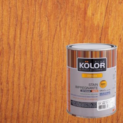 Protector de Madera Stain Solvente Caoba 1/4 galón