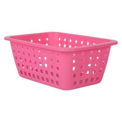 Canasto de rejilla 12,5x21,4x31 cm rosado