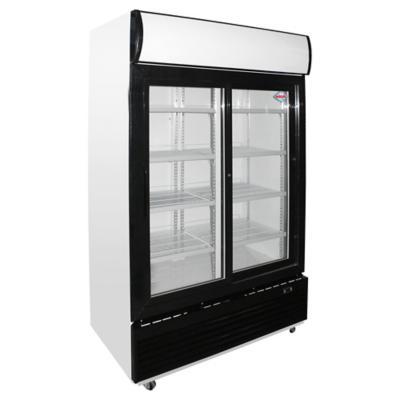 Visi-Cooler 2 puertas 1000 litros negro/blanco