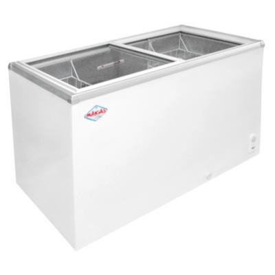 Congelador industrial horizontal 330 litros tapa vidrio blanco