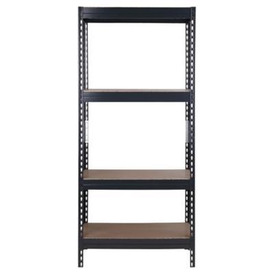 Estantería metal/madera negra 176x75x40 cm
