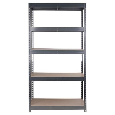 Estantería metal/madera negra 192x100x50 cm