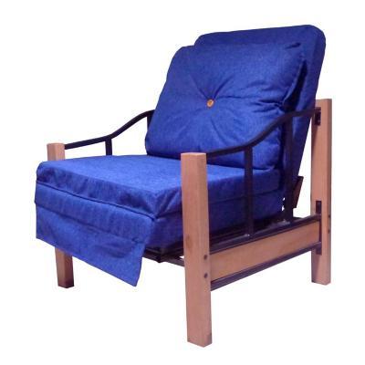 Futón 190x90x76 cm azul