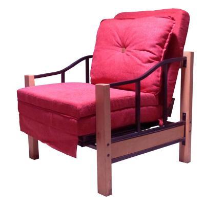 Futón 190x90x76 cm rojo
