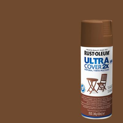 Pintura en spray satinado 340 gr nuez