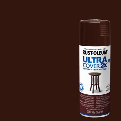 Pintura en spray brillante 340 gr café