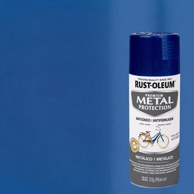 Pintura anticorrosiva en spray brillante 340 gr azul cobalto