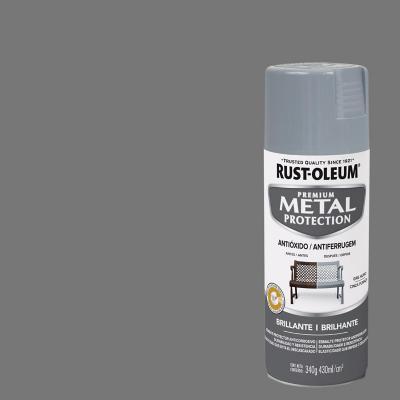 Pintura anticorrosiva en spray brillante 340 gr gris humo