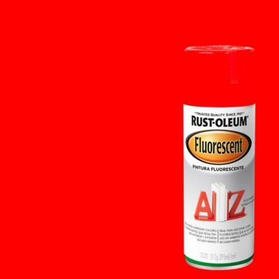 Pintura en spray fluorescente 312 gr naranjo