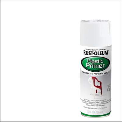 Imprimante en spray para plástico brillante 340 gr blanco