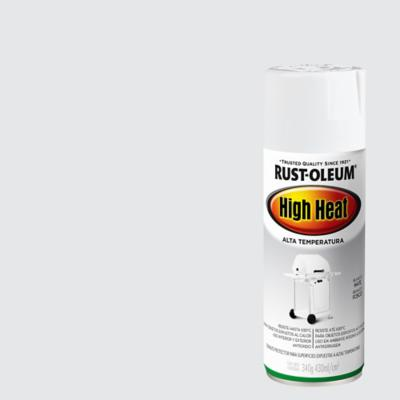 Pintura en spray para altas temperaturas mate 340 gr blanco