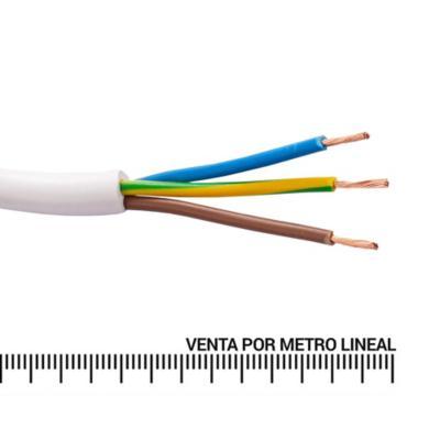 Cordón 3X0,75 mm metro lineal Blanco