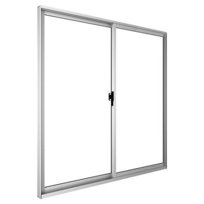 Ventana corredera aluminio intermedio 100x100 cm blanco