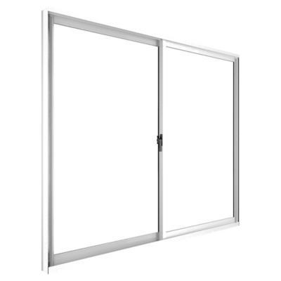 Ventana corredera aluminio intermedio 121x100 cm blanco