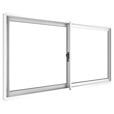 Ventana corredera aluminio intermedio 100x60 cm blanco