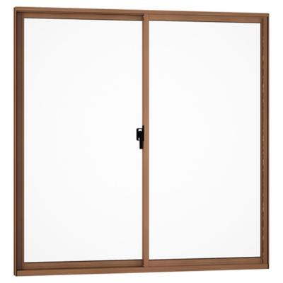 Ventana corredera aluminio intermedio 100x100 cm madera