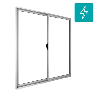 Ventana termopanel aluminio intermedio next 100x100 blanco corredera