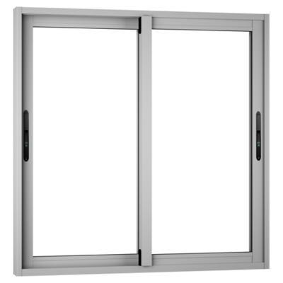 Ventana monolítica aluminio premium select 100x100 mate corredera
