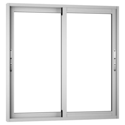 Ventana monolítica aluminio premium select 100x100 blanco corredera