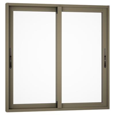 Ventana monolítica aluminio premium select 100x100 titanio corredera