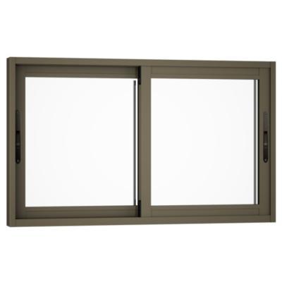 Ventana monolítica aluminio premium select 100x60 titanio corredera
